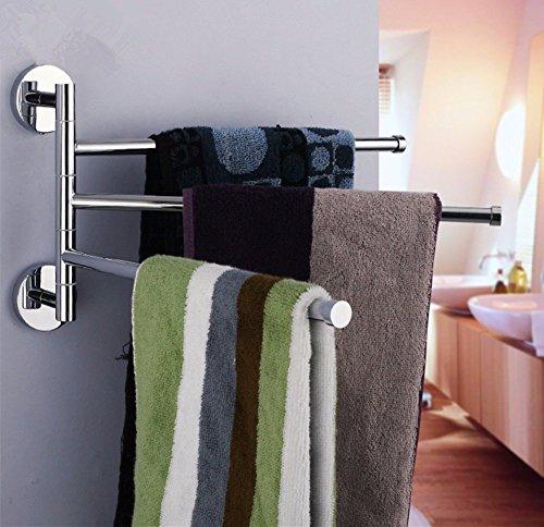 [해외]Gkteck 스테인리스 360도 회전 수건 걸이 네 계층의 활동 수건 걸이 | 홀더 욕실 액세서리 홈 장식/Gkteck stainless 360 degree turning towel rack four layer activity towel bar | holder bathroom accessories home decoration