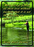 (30cm X 43cm, Men go Fishing) - River's Edge Weatherproof Embossed Tin Signs