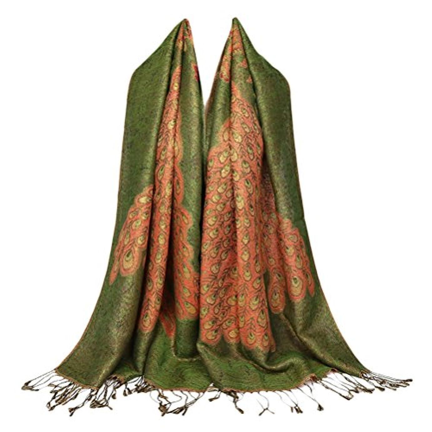ペリスコープ画家送るZhuhaitf Noble スタイリッシュ Comfortable Printed Tassel Scarf Thicking for Womens Ladies Warm Winter スカーフ