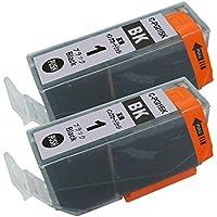 キャノン CANON PGI-1BK 単品2本セット ブラック チップ付き 汎用・互換 インクカートリッジ