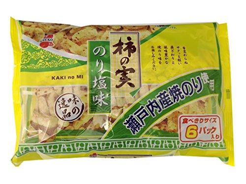 阿部幸製菓 柿の実 のり塩味 150g(25g×6袋)×12袋