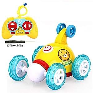 ラジコンカー リモコンカー スタントカー 車のおもちゃ 車 RC ラジコン 子供 玩具 新年/誕生日のプレゼント 知育・学習玩具 知育オモチャ 贈り物 LEDライト搭載 音楽 人気 趣味 簡単操作 (スタントカー, オレンジ)