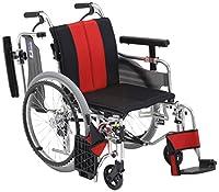 【非課税】ミキ MYU4 低座面 自走型 車いす MYU4-OP レッド 40