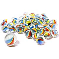 Glass Marble Set - Netted Bag of 41 Assorted Marbles