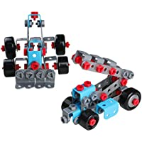 Educational Construction Engineering Building Blocks Set STEM Learning Creative Fun Kit 3D Assemble DIY Models Car Best Gift for Kids Toddlers Boys Girls 3 4 5 Years