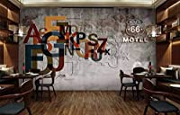 Minyose カスタム壁紙バーカラフルなKTVヴィンテージ噴水壁壁の背景壁画家装飾壁画3D壁紙-350cmx245cm