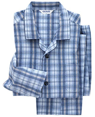 [グンゼ] パジャマ 肩ももW保温 長袖長パンツ ソフトキルト/発熱ニットガーゼ SG4078 メンズ ブルー 日本 L (日本サイズL相当)