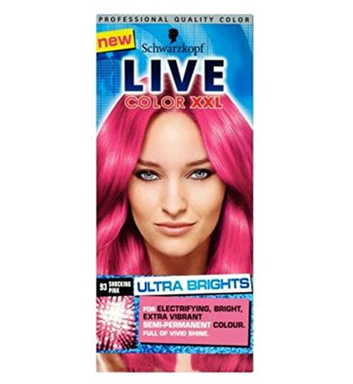 先例鉱石謝るSchwarzkopf LIVE Color XXL Ultra Brights 93 Shocking Pink Semi-Permanent Pink Hair Dye - シュワルツコフライブカラーXxl超輝93ショッキングピンク...
