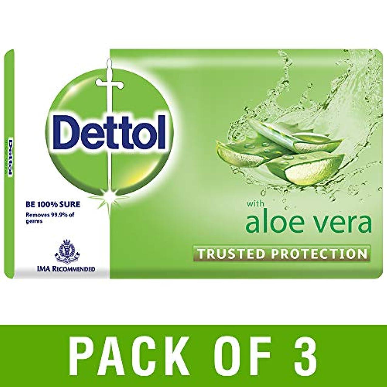 じゃない地平線原子Dettol Aloe Bathing Bar Soap - 100 g (Pack of 3)