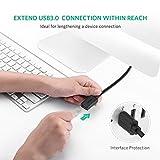 UGREEN USBケーブル 延長 USB3.0 延長コード 高速データ転送 金メッキ オス メス USBリピーターケーブル 2M