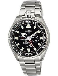 [プロスペックス]PROSPEX 腕時計 PROSPEX メカニカル GMT機能 チタンモデル ブラック文字盤 SBEJ001 メンズ