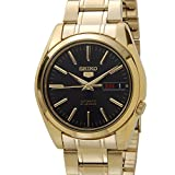 [セイコー]SEIKO 5 ファイブ SEIKO SNKL50K1 Automatic 自動巻き ブラックダイアル ゴールド メンズ 腕時計