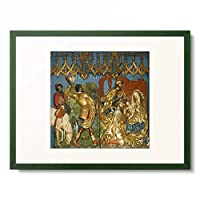 ファイト・シュトース Veit Stoss 「St. Mary's Altar: Adoration of the Magi. 1477-89」 額装アート作品