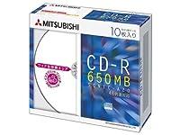 三菱化学メディア CD-R 650MB 4~48倍速 10枚 5mmスリムケース ワイド印刷可能 SR74SP10