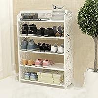 LIZHUQIANG シンプルで経済的な靴のラック家庭用居間の靴ラックの多層組立シンプルな近代的なバスルームのスリッパラック防水家庭の寝室の研究バスルームの棚 ( サイズ さいず : 62.5cm*24.5cm*87.5cm )