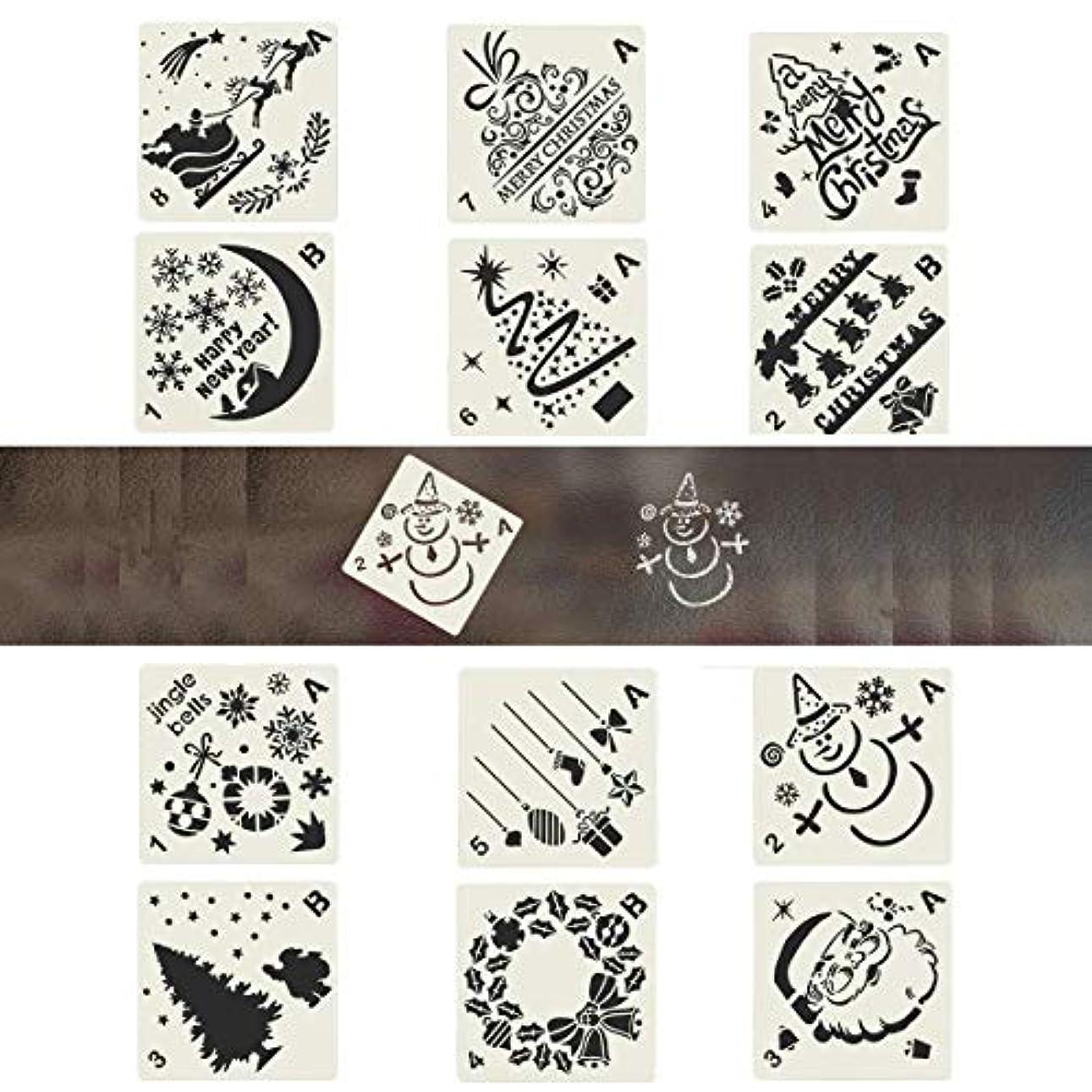 記念日マイクロプロセッサチャールズキージングPINCHUANG 12 Pieces Christmas Bullet Journal Stencils Templates Painting Stencil for Notebook Christmas Gift Card DIY Projects, Different Styles