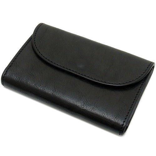 MR.OLIVE(ミスターオリーブ) ME141(ブラック×ネイビー)/ミドル ショート/ポリッシュレザー/バイカラー/牛革 財布