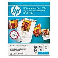 HPカラーレーザー光沢プレゼンテーション紙、97明るさ、34lb、手紙、300シート