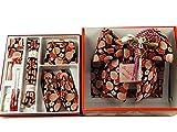 式部浪漫 七五三 七歳用 結び帯 大寸 箱せこセット ペアセット sk-1 黒地梅柄