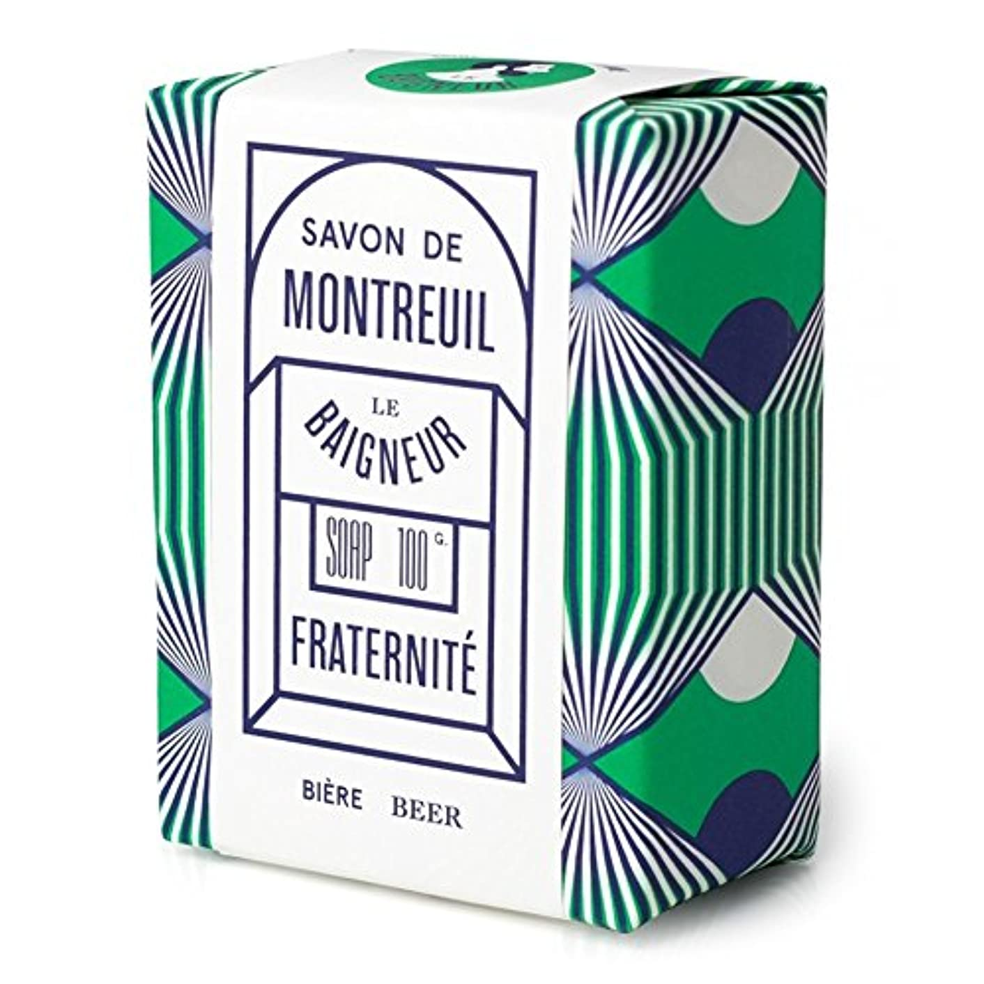 アンテナシロクマアクティビティル 石鹸100グラム x4 - Le Baigneur Fraternite Soap 100g (Pack of 4) [並行輸入品]