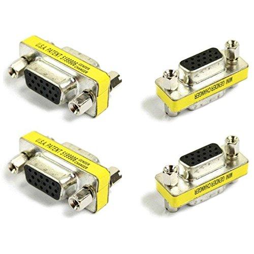 『【4個セット】 小型アダプタ D-Sub15ピン(ミニ)メス × D-Sub15ピン(ミニ)メス [VGA端子]』のトップ画像
