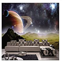 caomei リビングルームの壁画壁紙ソファのテレビの背景@ 3のための惑星地球火星の3D写真の壁紙