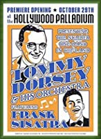 ポスター トミー ドーシー トミー ドーシーとフランク シナトラ - ハリウッド・パラディアム1940 - 額装品 ウッドベーシックフレーム(グリーン)