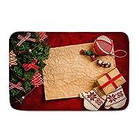 リビングルームベッドルーム廊下台所用ラグマット滑り止めドアマットクリスマス柄のカーペットフロアマット (Color : I, Size : 40*60cm)