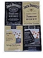Jack Daniels ブラック&ゴールド テネシー ハニー ウィスキー トランプ 2枚セット