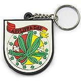 ラバーキーホルダー KEY HOLDER HEMP マリファナ 大麻 ASP ベージュ