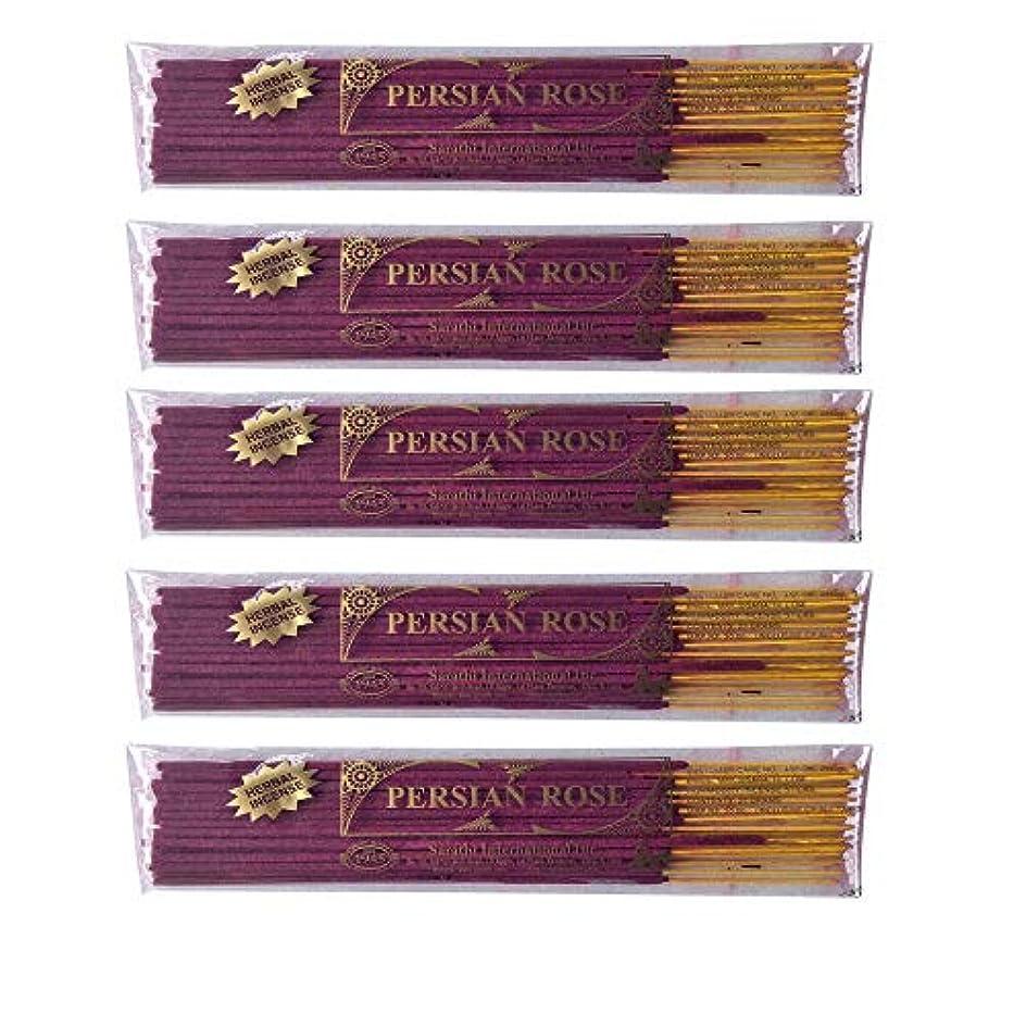 副産物ポスター設置Buddha Crafts Persian Rose Incense Sticks, 125 gms – 5のセット