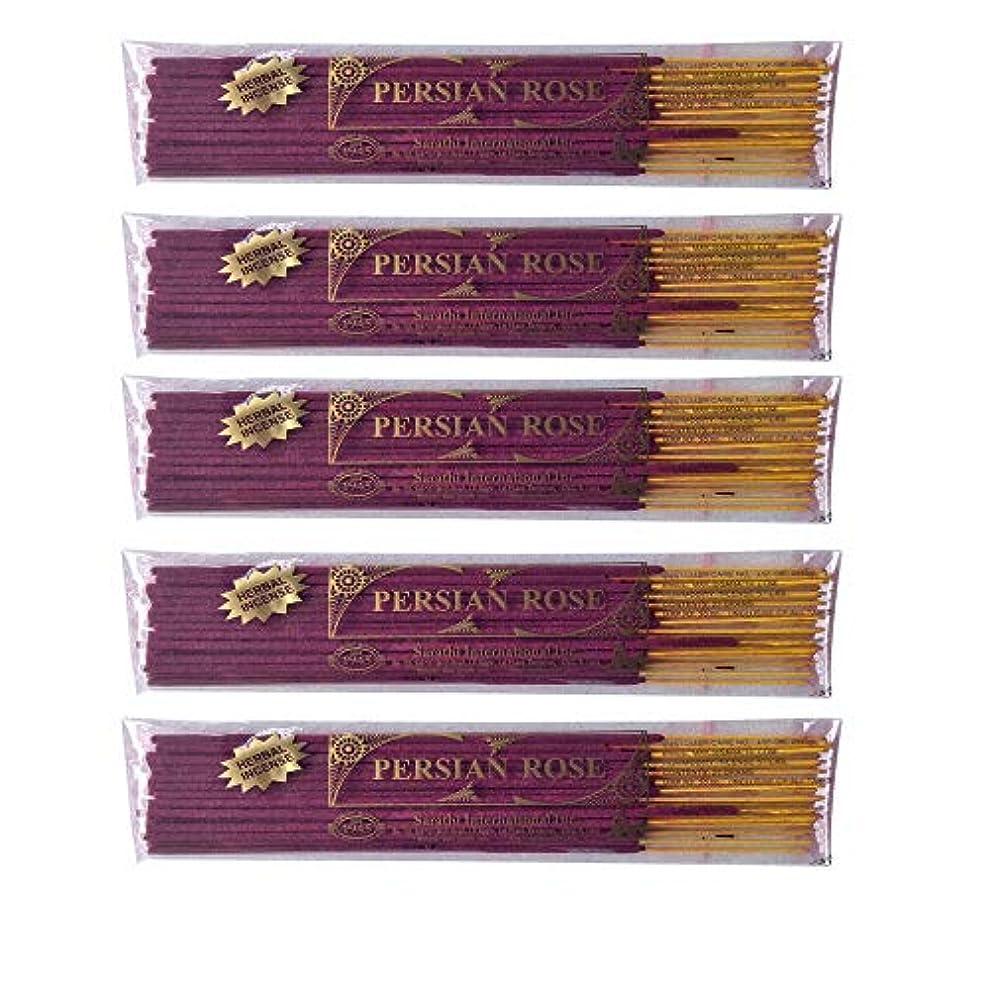 印象的拡散するクラウドBuddha Crafts Persian Rose Incense Sticks, 125 gms – 5のセット