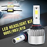Wiseshine 9005 hb3 6000k 72W 高効率 LED ヘッドライト一体型 COB led 電球 canbusデザイン7200 Lumen ( クールホワイト)