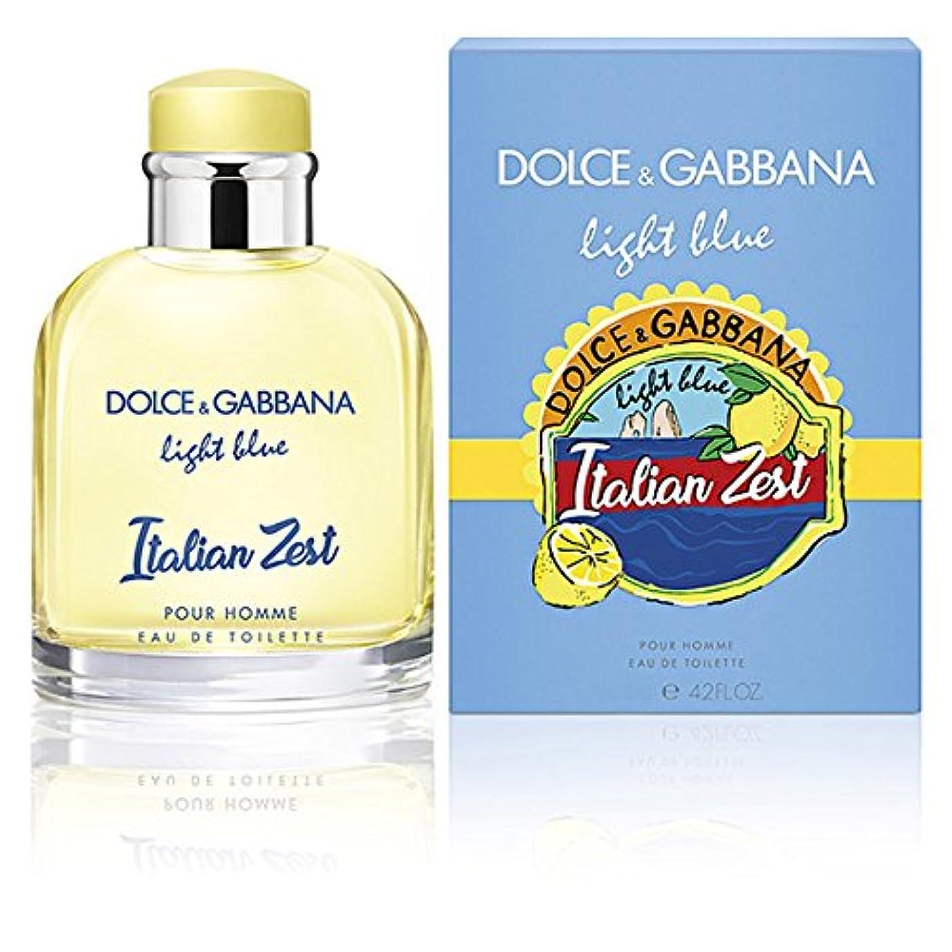に不可能な低いドルチェ&ガッバーナ DOLCE&GABBANA ライトブルー イタリアン ゼスト プールオム EDT SP 75ml