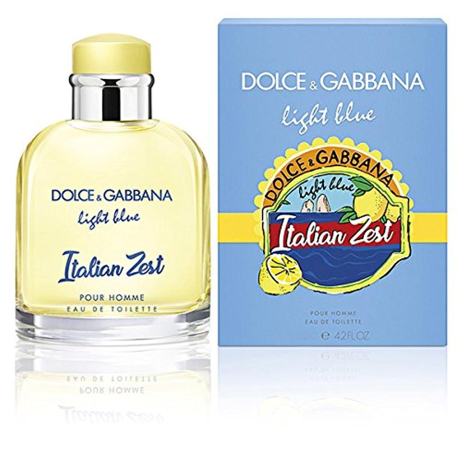 仲良し分配しますアルミニウムドルチェ&ガッバーナ DOLCE&GABBANA ライトブルー イタリアン ゼスト プールオム EDT SP 75ml