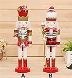 木工品☆くるみ割り人形く ドイツ 国王人形 祝日 人形 工芸品 置物 サンタクロース クリスマス ハロウィン 木