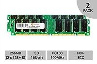 256MBキット2x 128MB SD Non - ECC DIMM pc100100100MHz 100MHz SDRAM RAMメモリby centernex