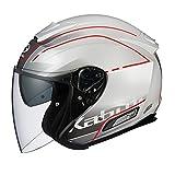 オージーケーカブト(OGK KABUTO) バイクヘルメット ジェット ASAGI BEAM(ビーム) パールホワイト 569488 M (頭囲 57cm~58cm)