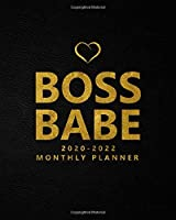 Boss Babe 2020-2022 Monthly Planner: Pretty Three Year Monthly Organizer, Schedule Agenda & Notebook - Black Velvet & Gold 3 Year Calendar with 36 Months Spread View, Inspirational Quotes, To-Do's & Notes