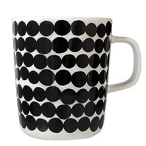 マリメッコ marimekko シイルトラプータルハ SIIRTOLAPUUTARHA マグカップ ホワイト×ブラック 250ml 63296 190 【並行輸入】 63296 190