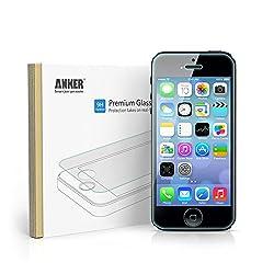 Anker GlassGuard iPhone SE   5S   5C   5用 強化ガラス液晶保護フィルム