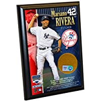 MLB New York Yankees Mariano Rivera 10cm by 15cm Dirt Plaque