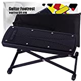 IronTree ギター足台 踏み台 高さ調節6段 折りたたみ式 収納ケース付き (黑)