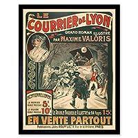 Rouff Maxime Valoris Novel Lyon Mail Robbery Advert Art Print Framed Poster Wall Decor 12x16 inch 広告ポスター壁デコ