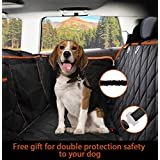 Dog Seat Cover Waterproof Hammock Convertible with Extra Side Flaps Best for Cars Trucks Suvs