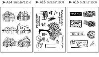 (ランナー)RUNNER-JP 手帳 誕生日 DIY 印鑑 道具 クリアスタンプ 手作りスタンプ かわいい 透明 面白い (5)