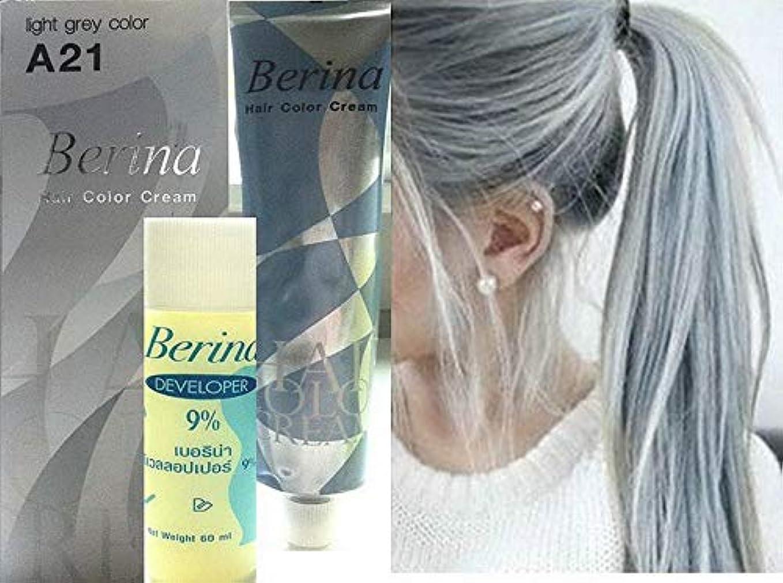 調べる締める大事にするHair Colour Permanent Hair Cream Dye Light Ash Grey by Berina