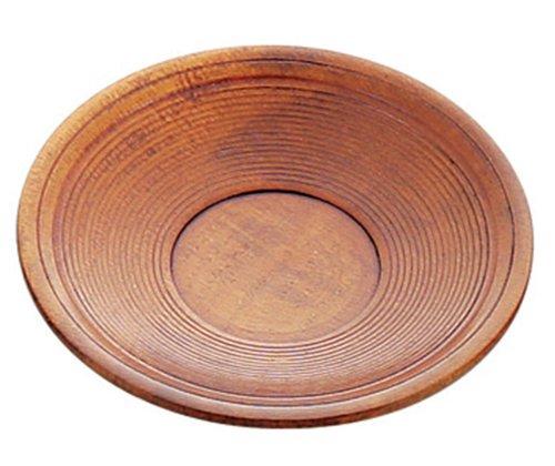 木製茶托 千筋 12cm 41112