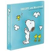 コクヨS&T スヌーピー CD&DVDファイル 1段タイプ 12枚収容 ブルー EDF-SNC206-1