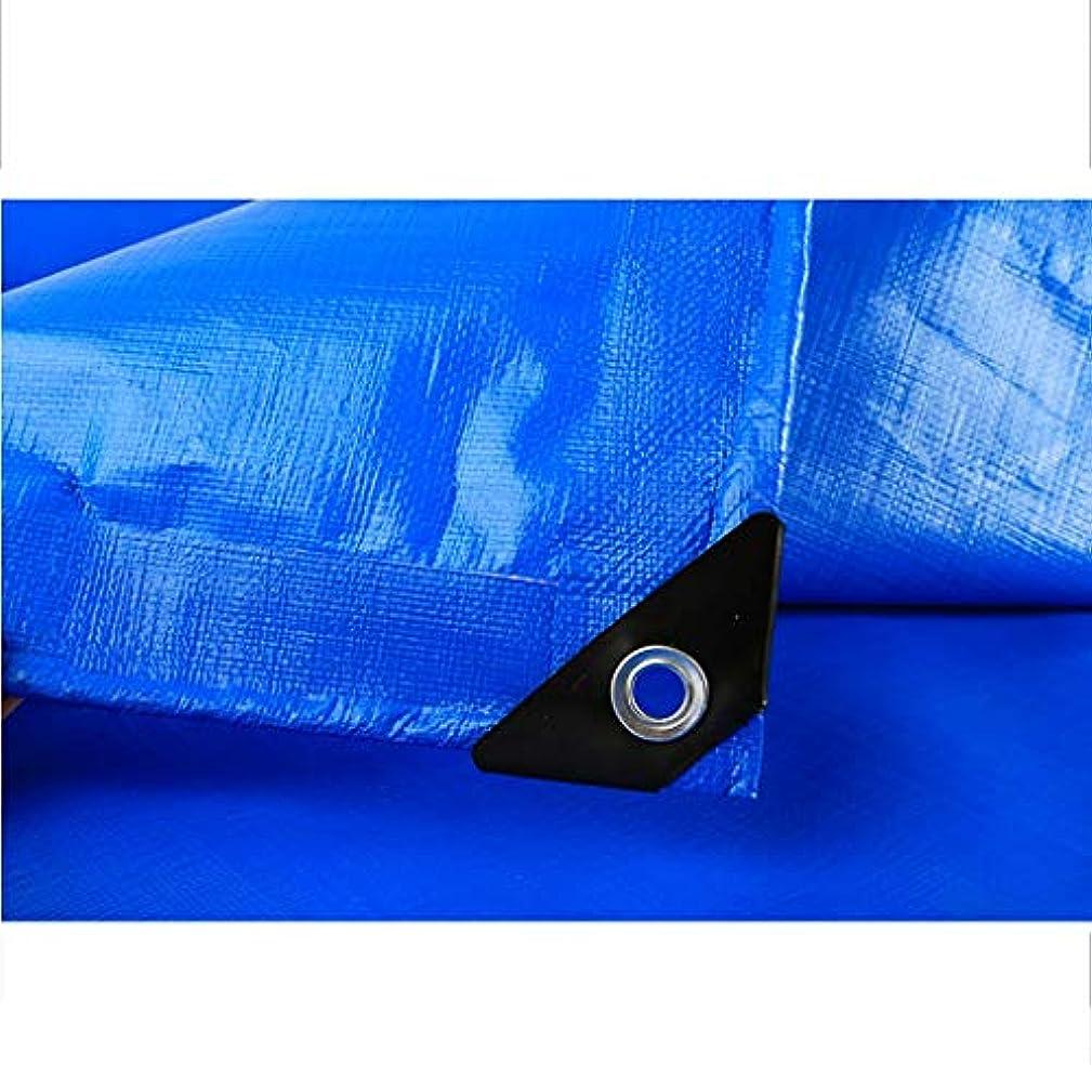 精査する説教する踏み台タープ 太陽と雨をカバーする青い防水シート、防水、引き裂き防止、アンチエイジング、防錆、キャンプ用防水シート テント (Color : Blue, Size : 5m×6m)